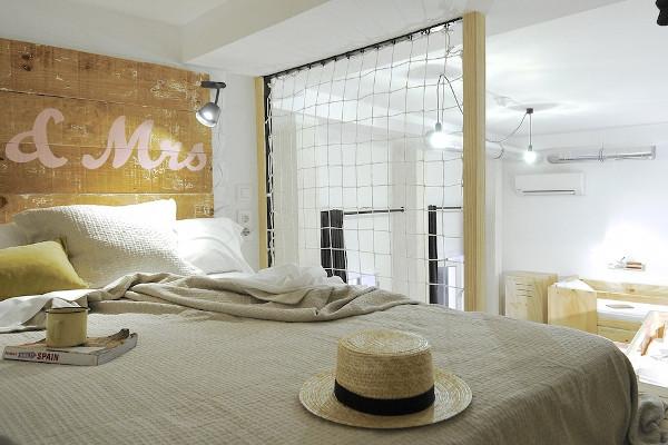 Una de las habitaciones de The Hat, en Madrid. Imagen de su web.