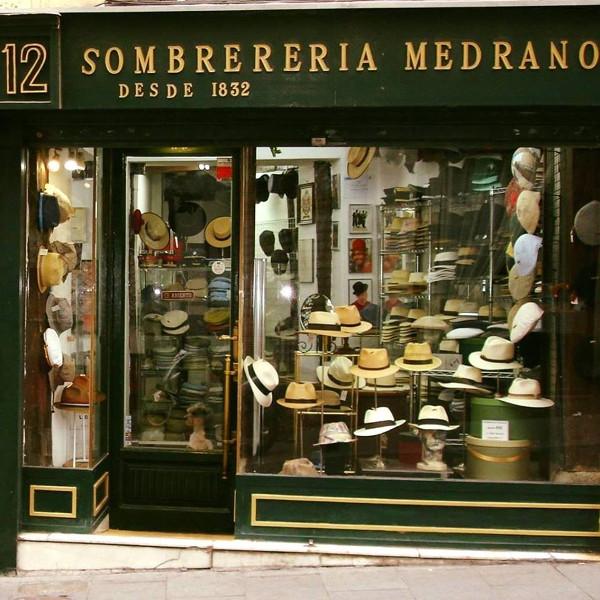 Entrada de la Sombrerería Medrano. Imagen de su web.