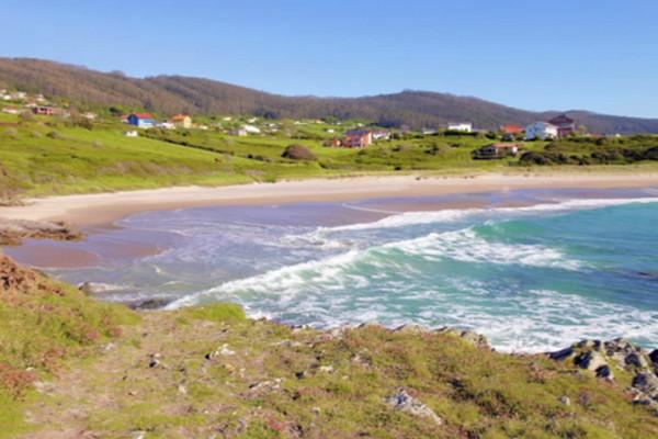 La playa de Pantín. Imagen de la web de Turismo Galicia.