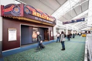 Sala de cine en el aeropuerto Portland, ¿tiene ya sus entradas?