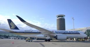 Barcelona y Singapur A350