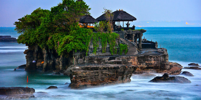 Tanah Lot: uno de los templos más conocidos de Bali.