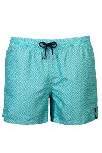 La tendencia actual de pantalón más corto y estrecho en el bañador extendido.