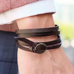 pulsera-de-cuero-trenzada-ajustable-marron-trendhim
