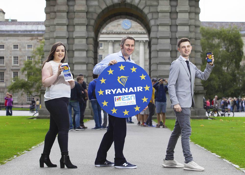 Ryanair lanza una nueva plataforma para los estudiantes de Erasmus