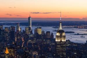 Puesta de sol desde 432 Park Avenue. Foto: DBOX