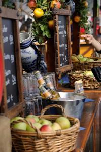 Detalle de uno de los puestos de comida. Foto: © Tourismus + Congress GmbH Frankfurt am Main