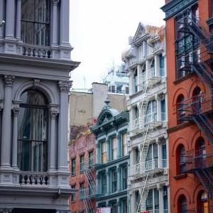 Edificios de colores en el Soho. Foto: Katya newyork