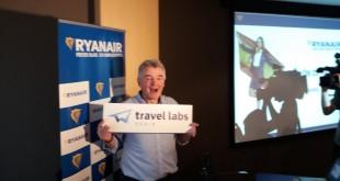 Michael O'Leary, CEO de Ryanair, en su encuentro con periodistas ayer en Madrid