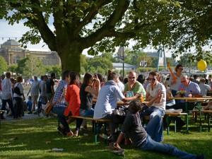 El buen ambiente del festival durante los últimos días de agosto. Foto: © Tourismus + Congress GmbH Frankfurt am Main