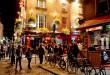 Este barrio de Dublín, Temple Bar, pegado al río Liffey, es una zona súper animada por las noches.