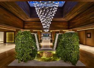 El Lobby del centro Wellness. Foto: Banana Island Resort by Anantara