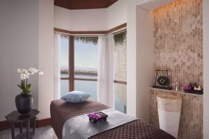 Una de las salas de tratamientos del Anantara Spa. Foto: Banana Island Resort by Anantara