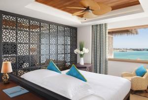 Dormitorio de una de las suites. Foto: Banana Island Resort by Anantara