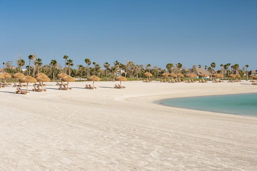 La playa de la isla