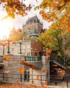 El imponente y elegante hotel Château Frontenac en Quebec