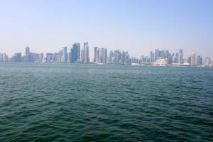 Vistas a Doha desde el resort. Foto: Laura Chápuli