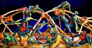 El Circo del Sol vuelve con un nuevo espectáculo, TOTEM, un paseo por la evolución del Hombre donde las acrobacias y el color son los protagonistas. Foto: GuiadelOcio.com