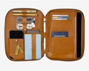 La versión maletín para tablet, más pequeña pero igualmente bien aprovechada