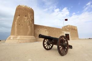 Fuerte en Zubarah, antigua ciudad en ruinas situada en la costa norte de Catar. Foto: Qatar Airways