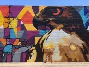 Arte urbano en Roosevelt Row del distrito de arte Melrose. Foto: modeapts.com