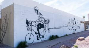 Obra en la calle Phoenix, Roosevelt Row. Foto: arturciesielski.com