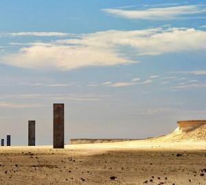 Arte de Richard Serra en el paisaje sereno desértico de la reserva natural de Brouq en Zekreet. Foto: facebook de Visit Qatar