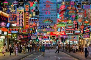 Hong Kong, ciudad de neones. Foto: hivelife.com