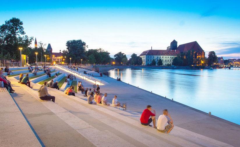 Breslavia (en polaco, Wrocław) está rodeada por las aguas del Oder. Foto: visitwroclaw.eu