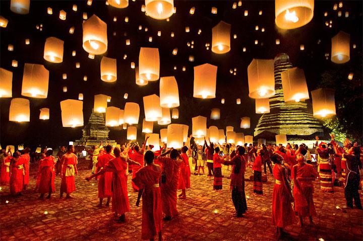 El mágico festival Loy Krathong
