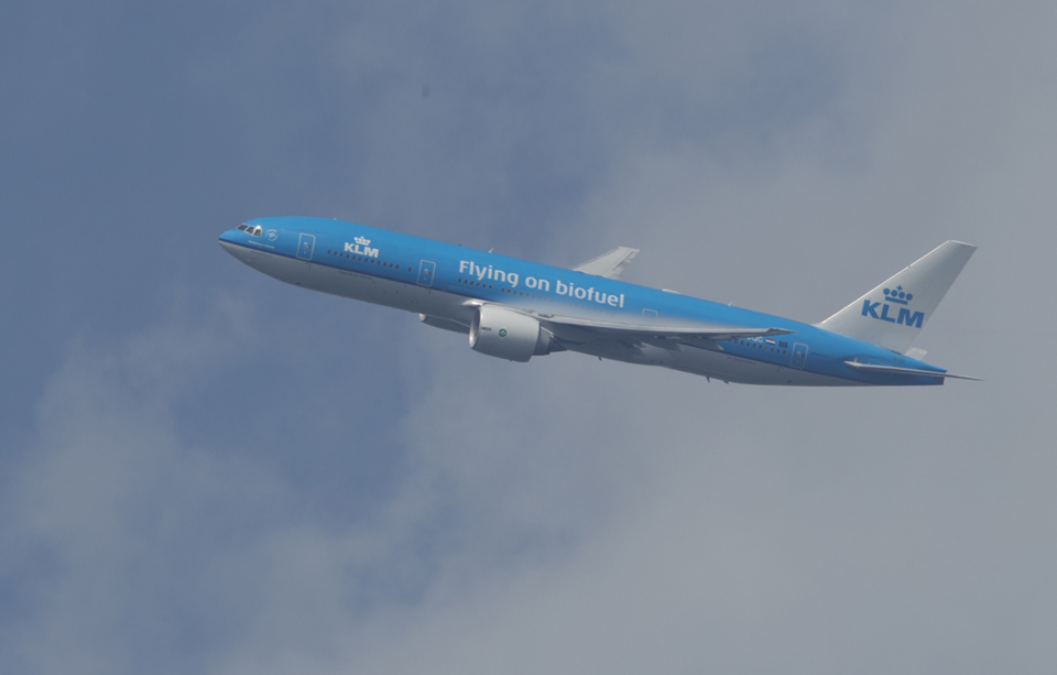 Avión KLM Biofuel