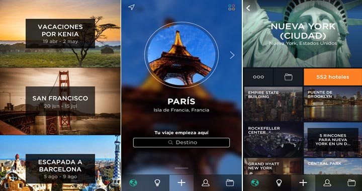 App de una conocida red social de viajeros para organizar las fotos de viajes