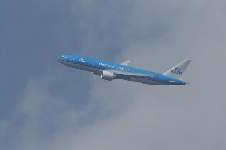 Avión de KLM con biofuel