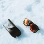 El Vuarnet Glaciar 1957 con lentes de cristal mineral en color rojo. Foto: Chillinmaster Legacy Suite.