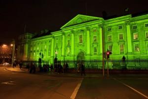 El edificio Trinity College de Dublín.