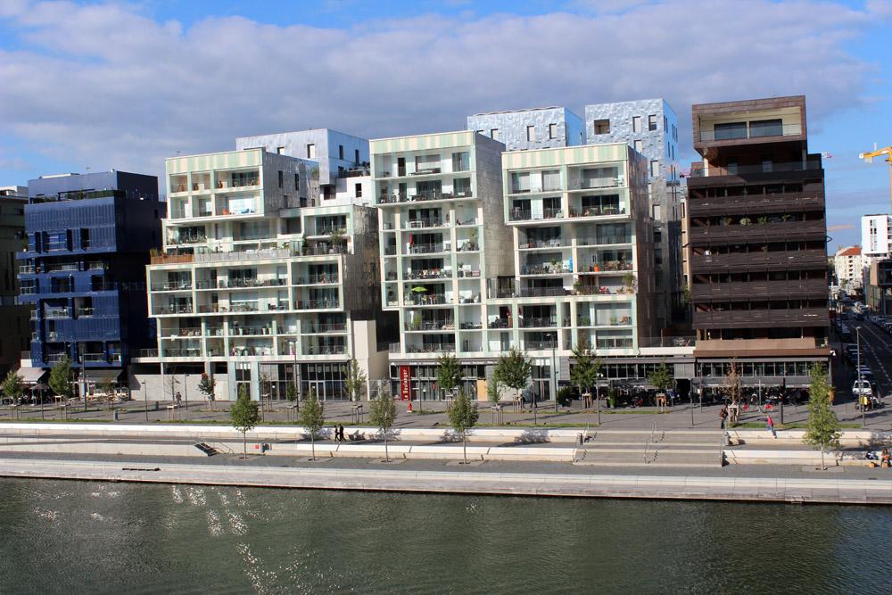 La Confluence es el nuevo barrio ecológico, en el que han intervenido arquitectos de prestigio.