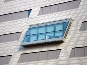Mirador de uno de los edificios del barrio de la Confluence.