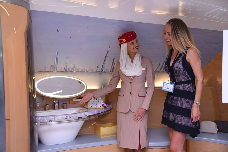 Onboard Shower Spa en el A380.