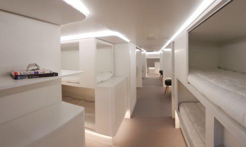 Prototipo de los módulos diseñados por Airbus y su socio en este proyecto, Zodiac Aerospace, para viajar en la bodega de carga de los A330.