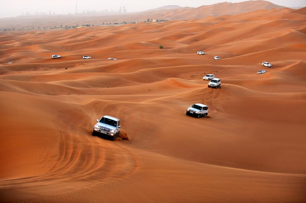 Las dunas del desierto brindan paisajes de ensueño.