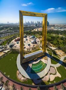 El Dubai Frame, un nuevo atractivo turístico de la ciudad.