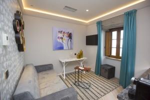 Aspecto de la sala de estar de uno de los dos apartamentos de Isla Pancha.