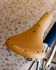 Detalle del sillín de la BMX de Bogarde.