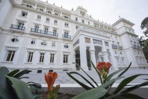 El Gran Hotel Miramar de Málaga mira de frente al mar Mediterráneo.