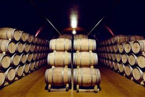Los vinos reposan en barricas hasta alcanzar su punto óptimo.