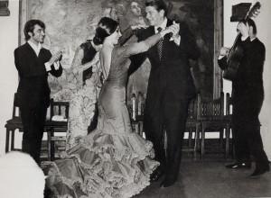 El Corral de la Morería fue inaugurado en 1956 por Manuel del Rey. En la foto, Ronald Reagan.