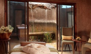 En el spa del Sabi Sabi Earth Lodge.
