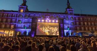 Edición 2017 de Liceu a la fresca desde la Plaza Mayor de Madrid.