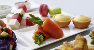 Comida vegetariana de Qatar Airways.