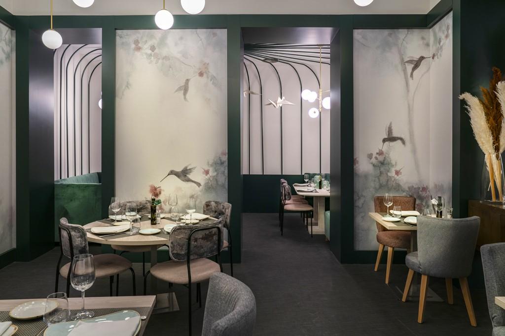 El restaurante NoMad Food&Bar está decorado con colibríes